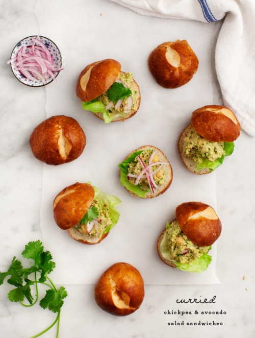 Love and Lemons - Curried Chickpea Salad Sliders