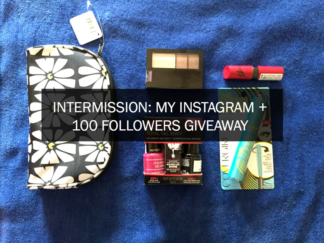 [Siyu Wu] INTERMISSION: My Instagram + 100 Followers Giveaway