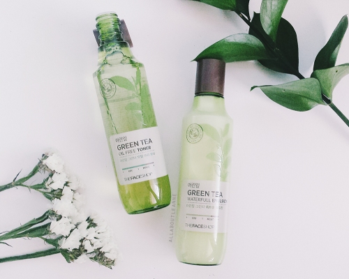 The Face Shop Green Tea Toner and Emulsion