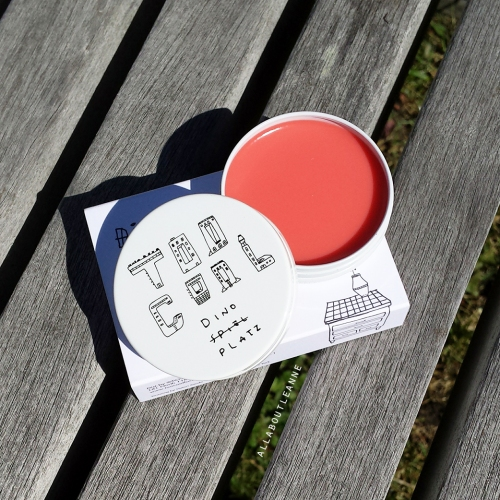 Too Cool For School Dinoplatz Lip Balm in Peach Melba