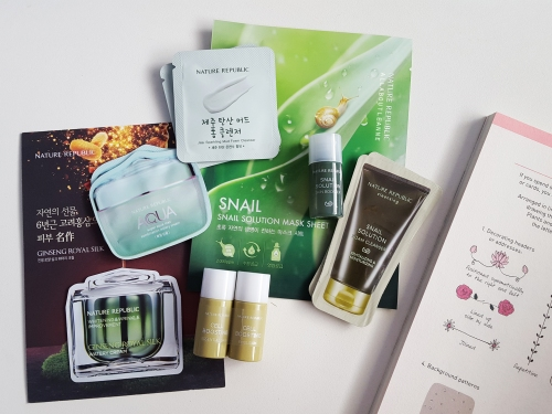 November 2015 Nature Republic Haul - Samples