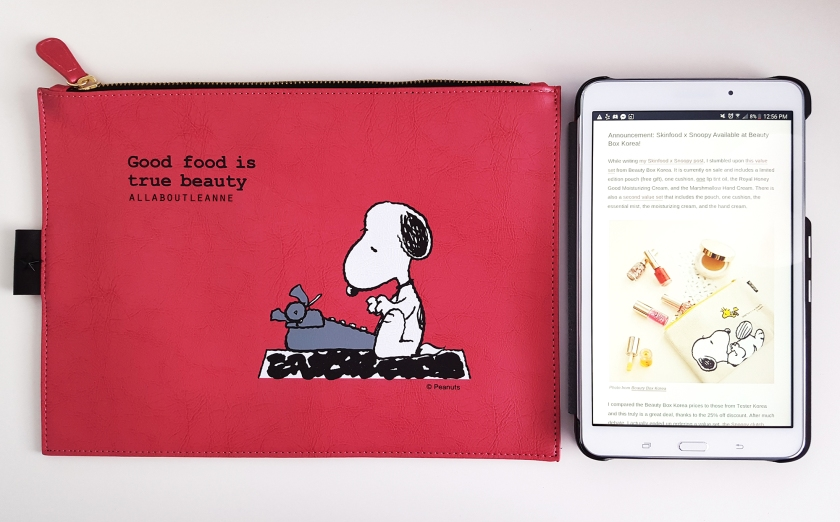 Skinfood x Snoopy Limited Edition Clutch with Samsung Galaxy Tab 4