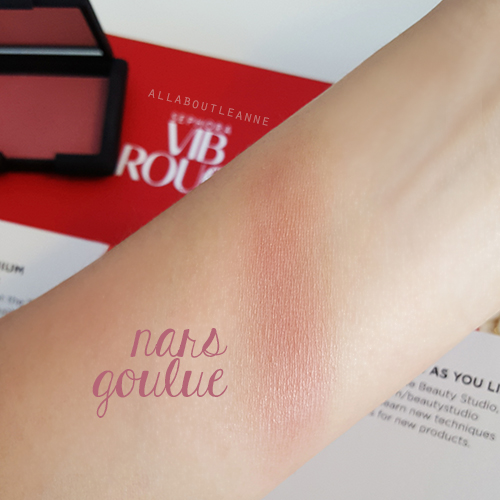 Swatch of NARS Blush in Goulue