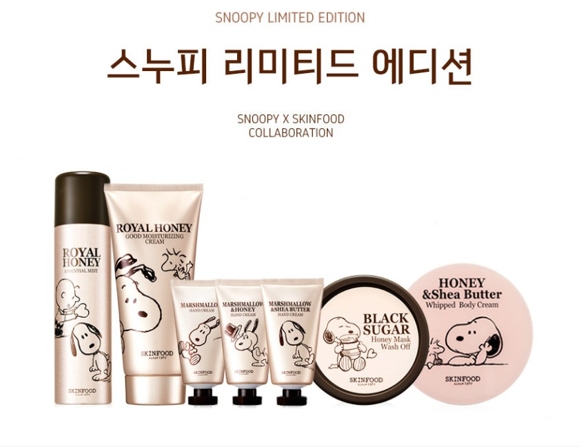 Skinfood x Snoopy Limited Edition Skin Care