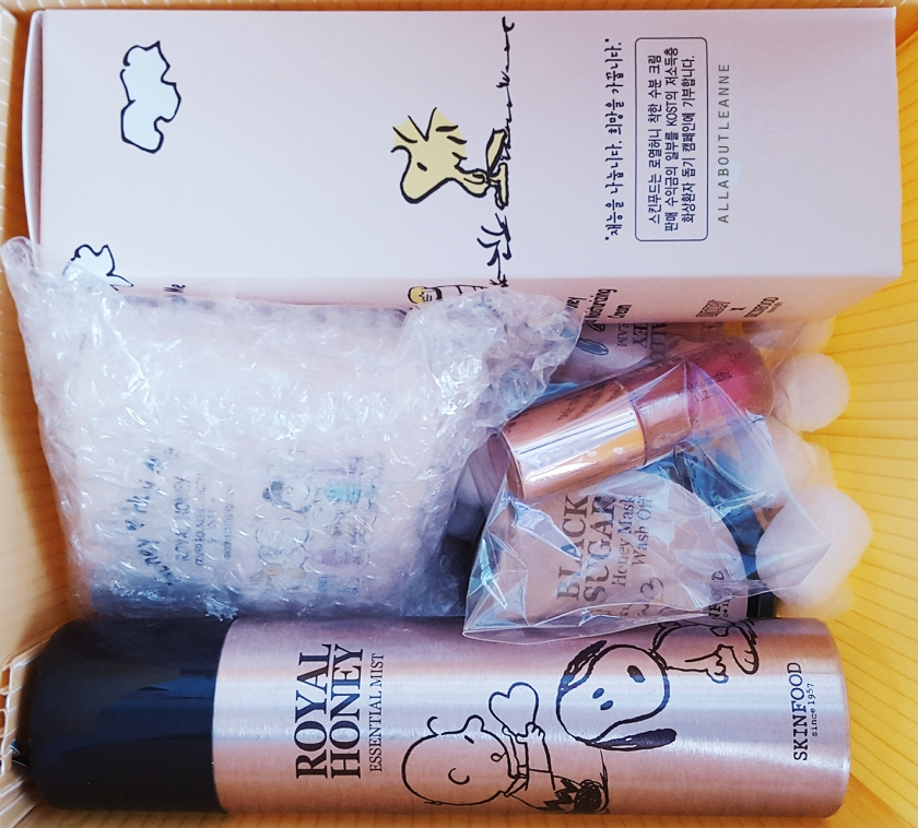 Skinfood x Snoopy Tester Korea Packaging